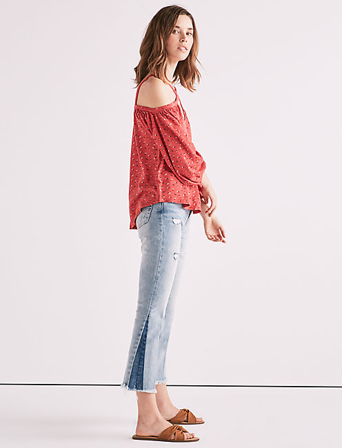 Lucky Ditsy Off Shoulder Top