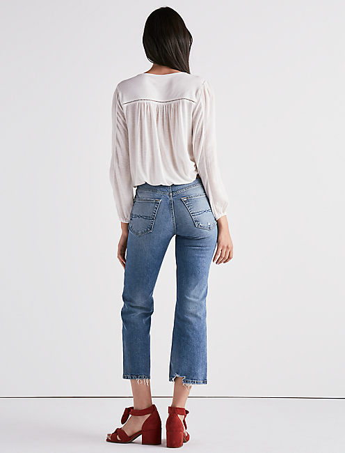LACE BANDED BOTTOM TOP,