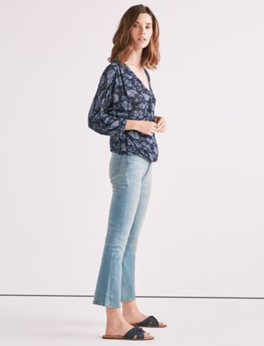 Lucky Floral Wrap Top
