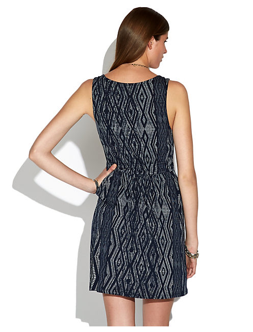 SANTA FE DASH DRESS, NAVY MULTI
