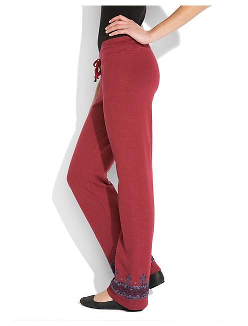 BORDER EMB SWEATPANT, #6703 BIKING RED