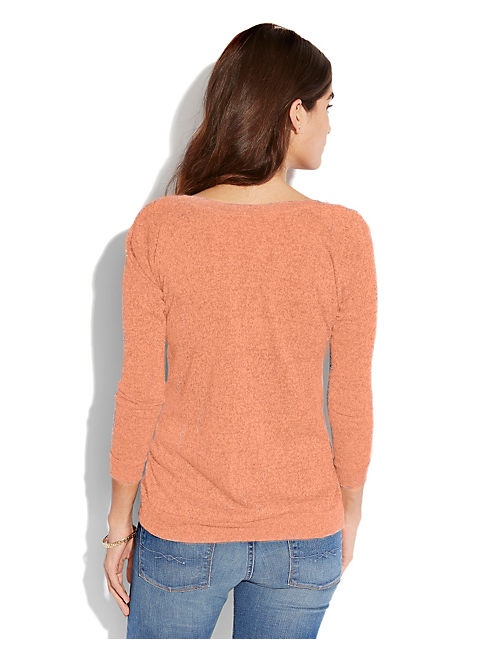 MARLED PULLOVER, CORAL HEATHER