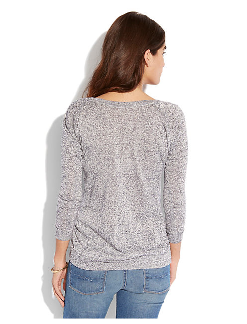MARLED PULLOVER, NAVY HEATHER