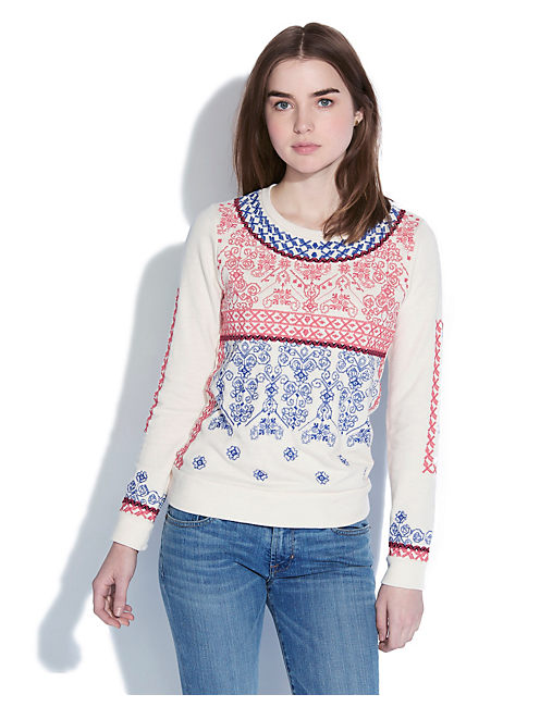 EMBROIDERED PULLOVER, #2413 NIGORI
