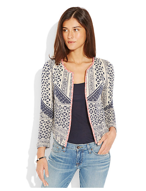 ALL-OVER PRINT JACKET, NAVY MULTI