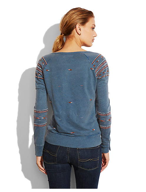 INDIO EMBROIDERED PULLOVE, INDIGO