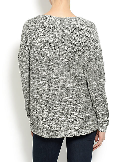 EMBELLISHED PULLOVER, BLACK/WHITE