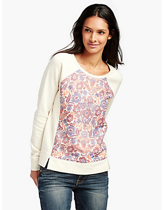 LUCKY BOLD FLORAL PULLOVER