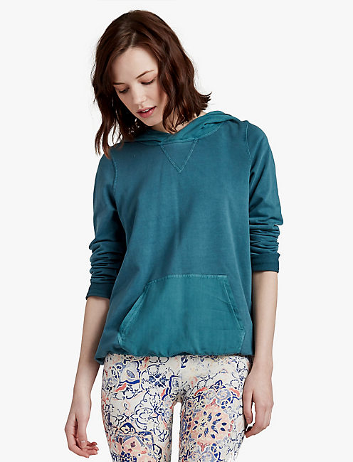 WOVEN MIXED PULLOVER, #40059 INK BLUE