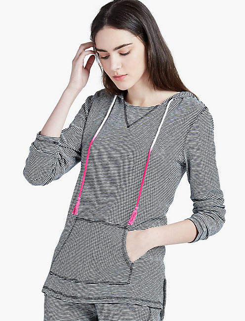 STRIPED HOODIE PULLOVER,