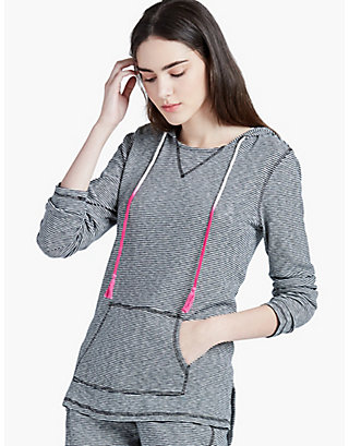 LUCKY STRIPED HOODIE PULLOVER