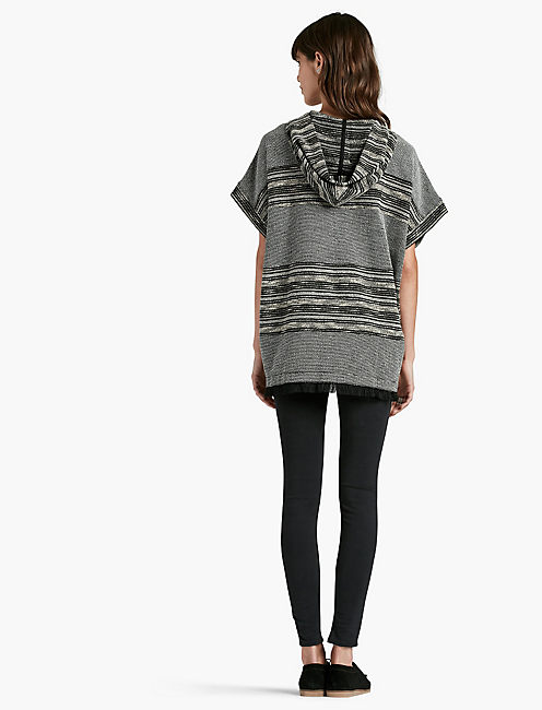 STRIPED NOVELTY PONCHO,