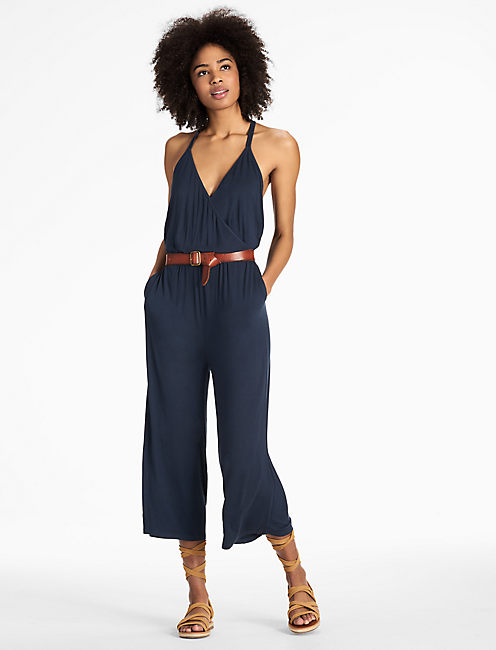 WIDE LEG  JUMPSUIT, BLUEBERRY
