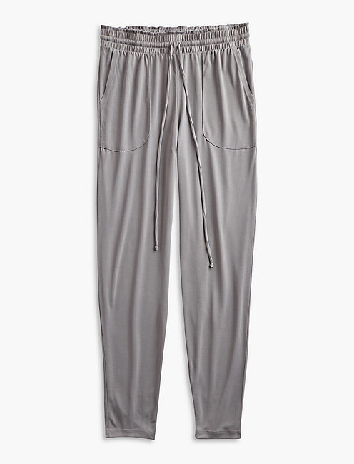 SAND WASHED PANTS, STEEL GRAY