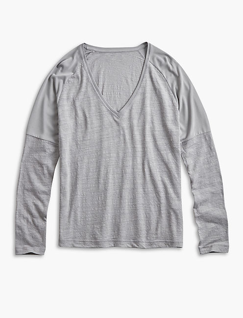 SAND WASH LONG SLEEVE TEE, GREY