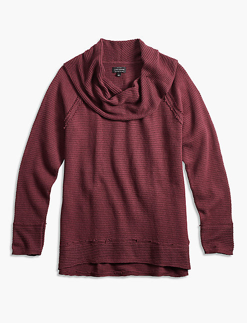 COWL NECK PULLOVER, port royale