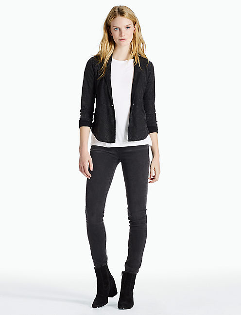Lucky Washed Jacquard Blazer