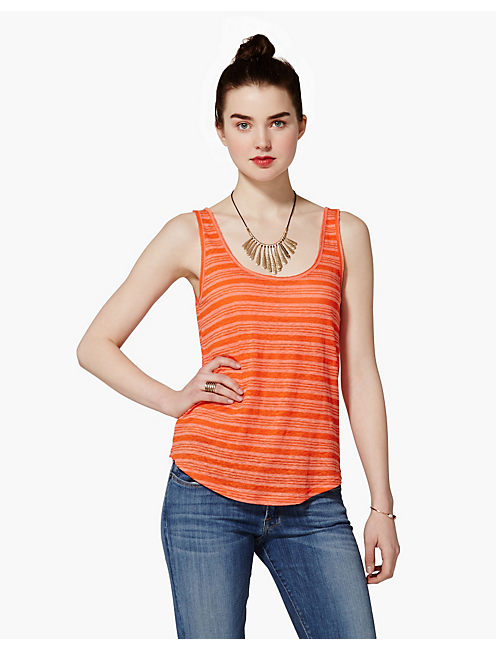 CATARINA LINEN STRIPE TEE,