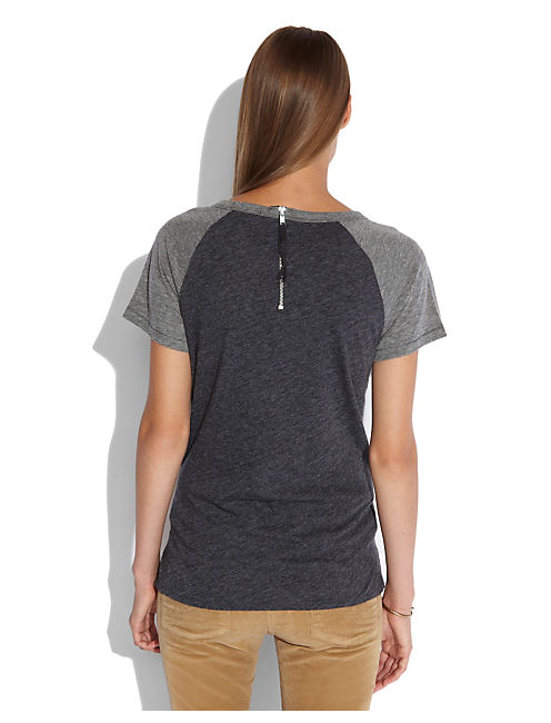 EDGY CHALKBOARD TEE, #9197 HEATHERED CHARCOAL