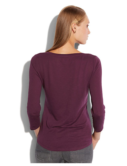 STUDDED PEACOCK TEE, #5309 POTENT PUPLE