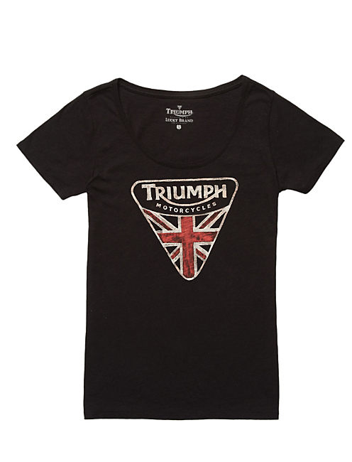 TRIUMPH FLAG TEE, #001 BLACK