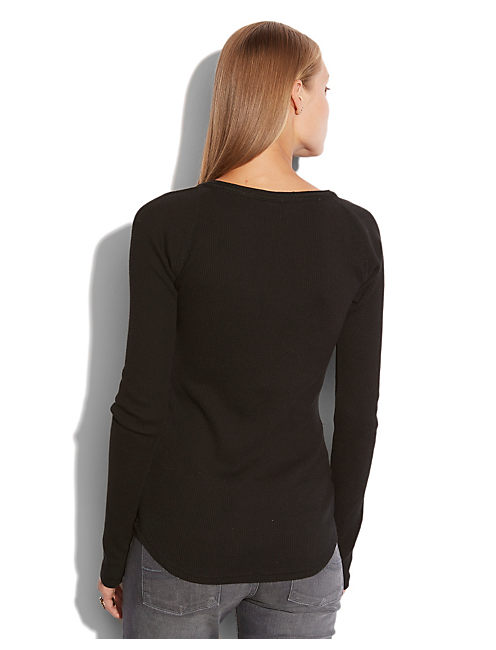 CELINE HENLEY THERMAL, 001 LUCKY BLACK