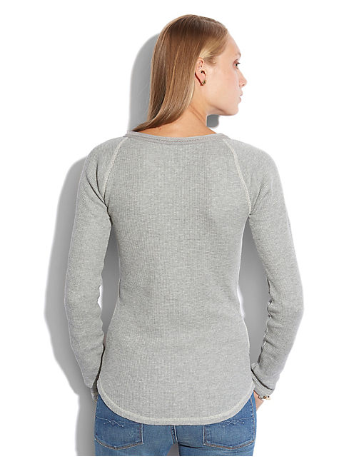 CELINE HENLEY THERMAL, HEATHER GREY