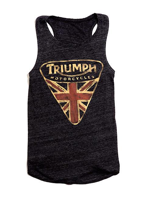 TRIUMPH MUSCLE TEE, BLACK MOUNTAIN