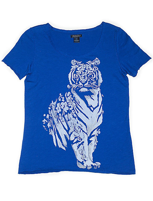 FLORAL TIGER TEE, #40048 SODALITE BLUE
