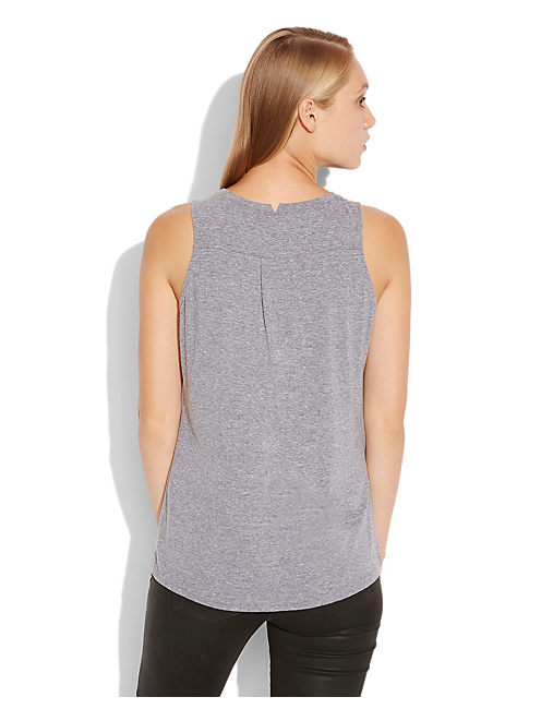 STUDDED SKULL MUSCLE TEE, HEATHER GREY