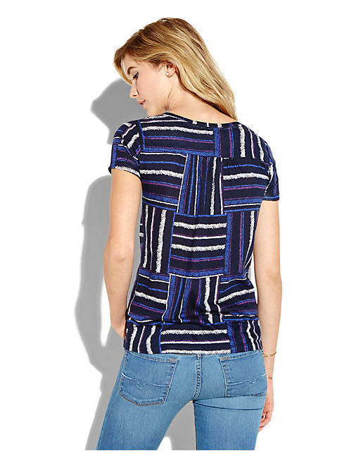 PATCHWORK TEE, BLUE MULTI
