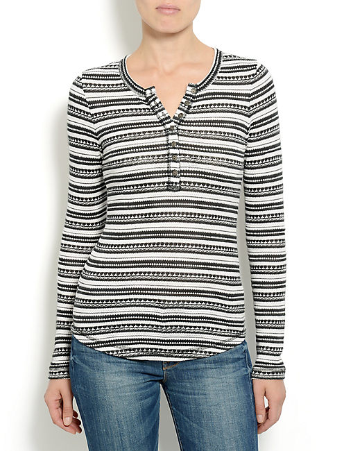 CHLOE STRIPE THERMAL, BLACK MULTI