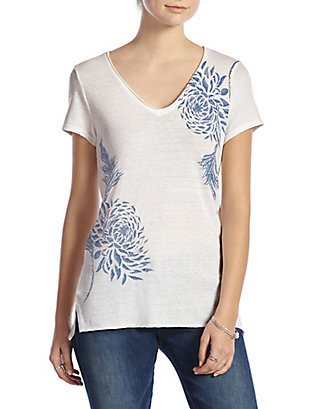 LUCKY BLUE FLOWER TEE