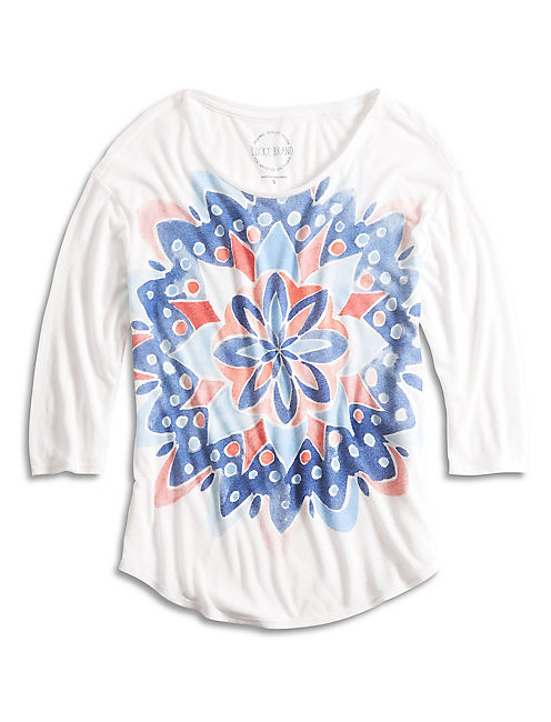 WATERCOLOR MANDALA TEE,