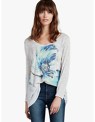 LUCKY PAINTED FLORAL TEE