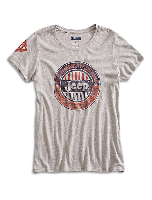 JEEP TEE, STEEL HEATHER