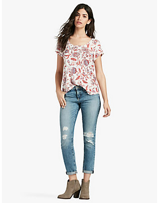 LUCKY INDO FLORAL TEE