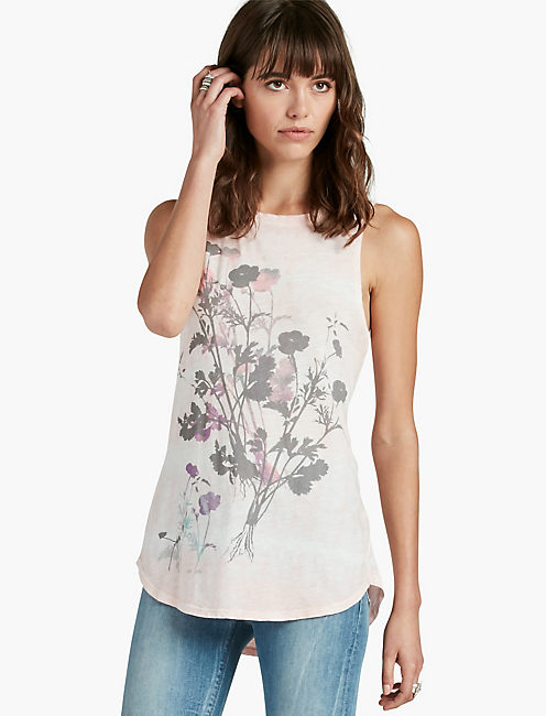 LAYERED FLOWERS TANK,