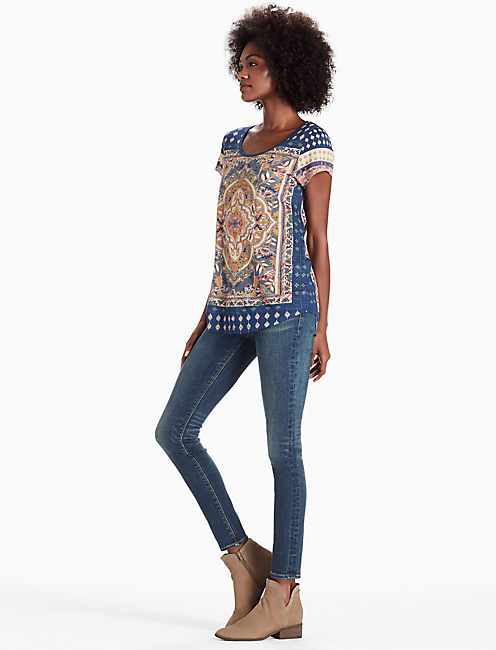 PERSIAN CARPET TEE, NAVY MULTI