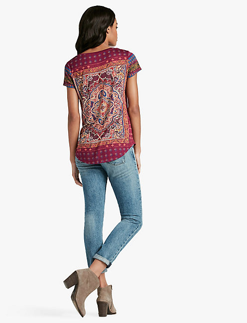 PERSIAN CARPET TEE, PURPLE POTION