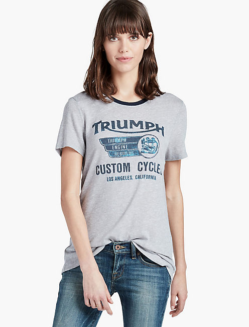 TRIUMPH CUSTOM CYCLES TEE,