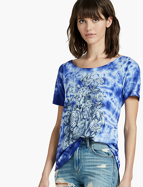 FLORAL WASHED TEE,