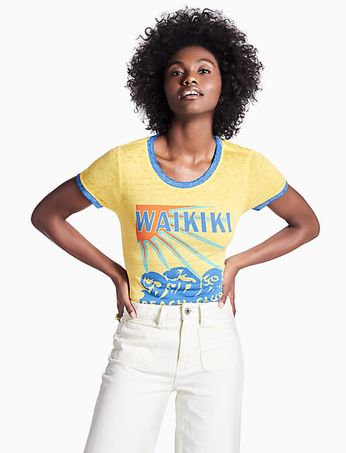 WAIKIKI BEACH RINGER TEE,