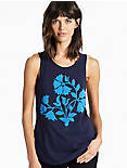 BEADED FLORAL TANK,