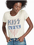 KISS STUDS TEE, NATURAL MULTI