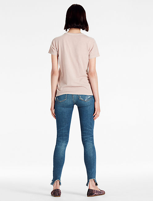 PRINTED LACE TEE,