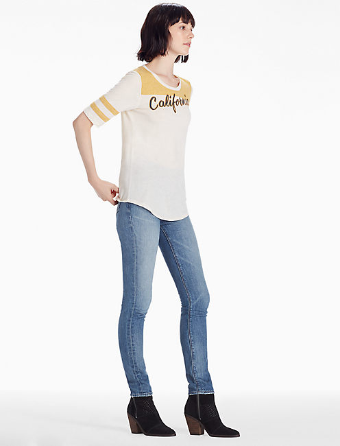 CALIFORNIA SCRIPT TEE, YELLOW MULTI