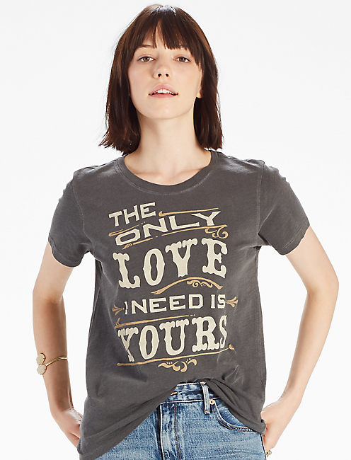 ONLY LOVE I NEED TEE, BLACK MOUNTAIN