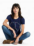 PEACE EMBROIDERED TEE,