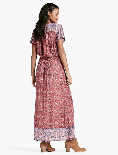 TAPESTRY PRINT DRESS,